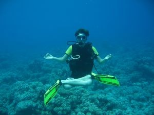 Underwater Scuba Yoga