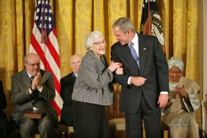 Harper Lee Receiving Medal