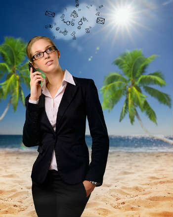 Business woman travel